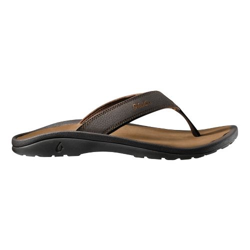 Mens OluKai Ohana Sandals Shoe - Brown/Tan 14