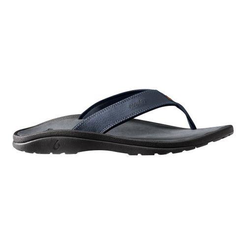 Mens OluKai Ohana Sandals Shoe - Navy/Grey 14