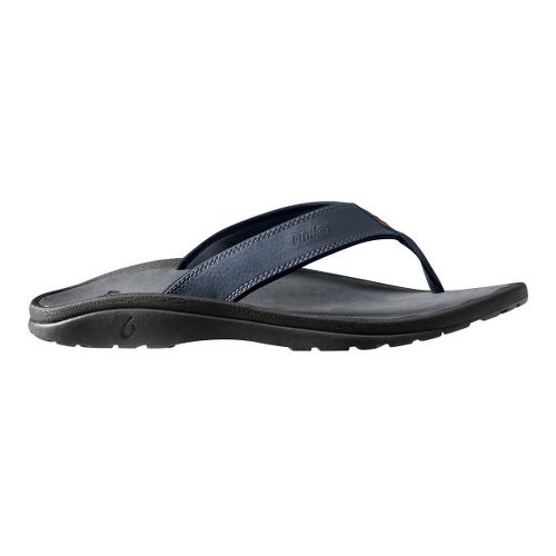 Mens OluKai Ohana Sandals Shoe - Navy/Grey 9