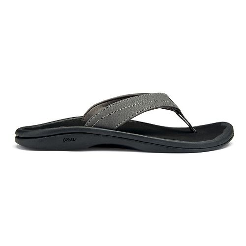Womens OluKai Ohana Sandals Shoe - Basalt/Grey 5