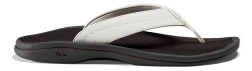Womens OluKai Ohana Sandals Shoe - White/Dark Java 6