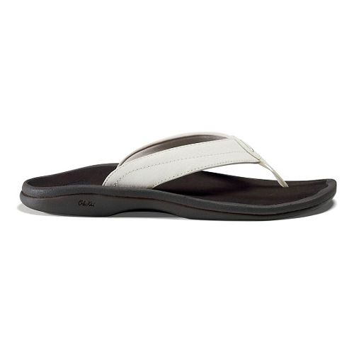 Womens OluKai Ohana Sandals Shoe - White/Dark Java 6