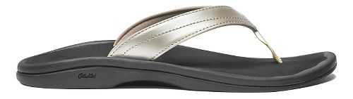 Womens OluKai Ohana Sandals Shoe - Bubbly/Black 12