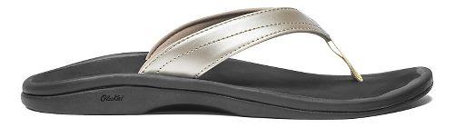 Womens OluKai Ohana Sandals Shoe - Bubbly/Black 7