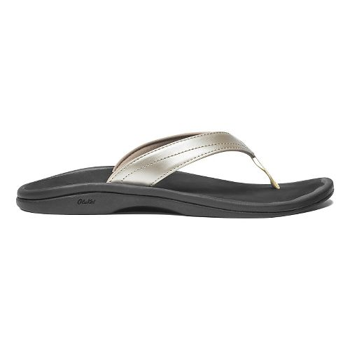Womens OluKai Ohana Sandals Shoe - Bubbly/Black 10