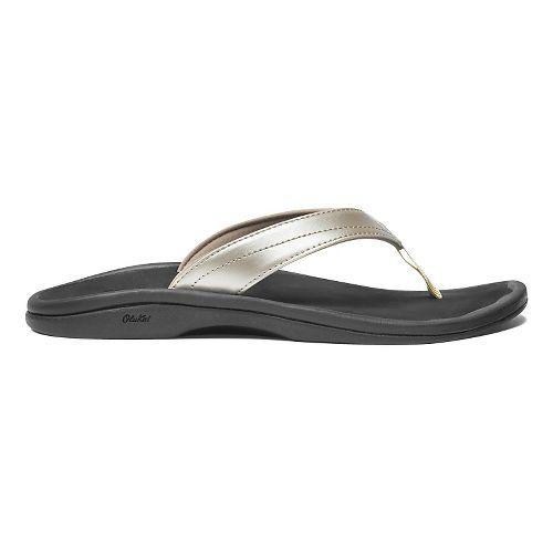 Womens OluKai Ohana Sandals Shoe - Bubbly/Black 6