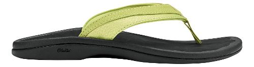 Womens OluKai Ohana Sandals Shoe - Lemon Grass/Black 10