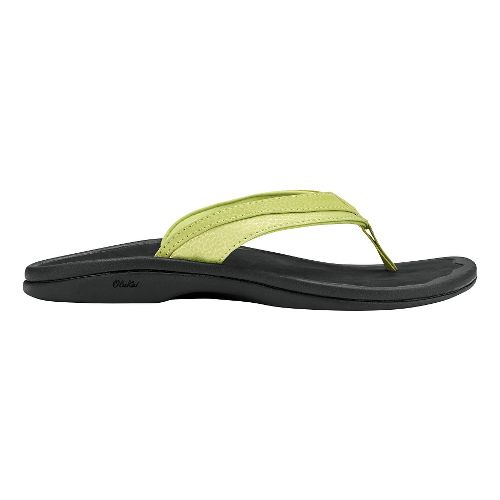 Womens OluKai Ohana Sandals Shoe - Lemon Grass/Black 5
