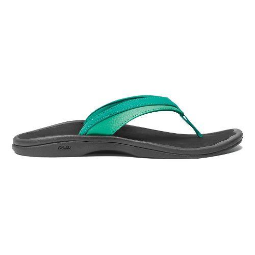 Womens OluKai Ohana Sandals Shoe - Mermaid/Black 9
