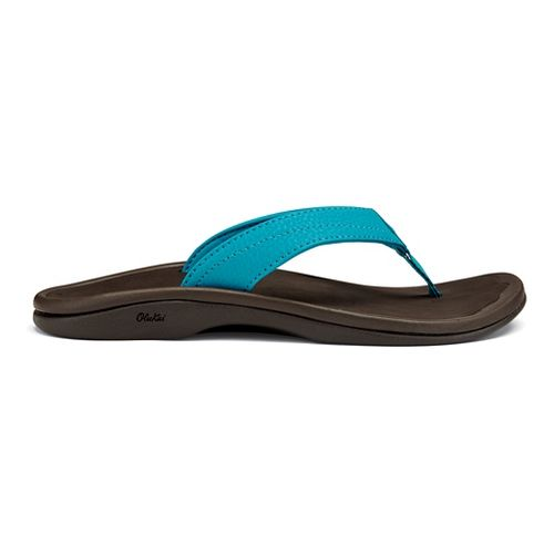 Womens OluKai Ohana Sandals Shoe - Tropic Blue/Java 10