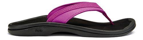 Womens OluKai Ohana Sandals Shoe - Bougainvillea/Black 5