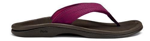 Womens OluKai Ohana Sandals Shoe - Pokeberry/Java 6