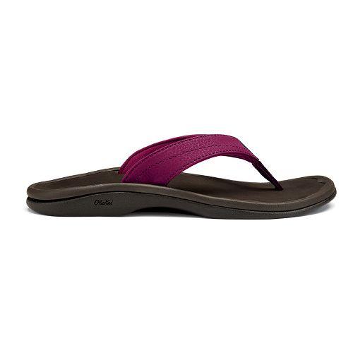 Womens OluKai Ohana Sandals Shoe - Pokeberry/Java 7