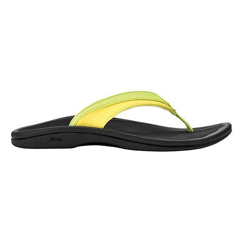 Womens OluKai Ohana Sandals Shoe - Pineapple/Black 6