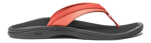 Womens OluKai Ohana Sandals Shoe - Coral/Black 9