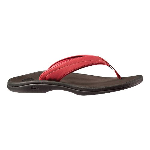 Womens OluKai Ohana Sandals Shoe - Berry/Brown 6