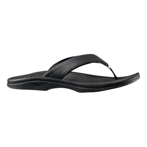 Womens OluKai Ohana Sandals Shoe - Ohia Red/Black 8