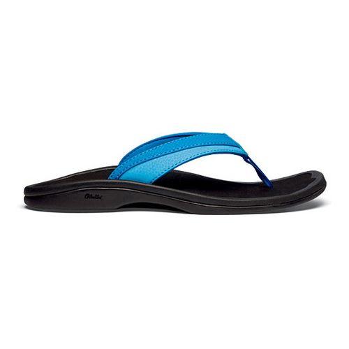 Womens OluKai Ohana Sandals Shoe - Lemon Grass/Black 5