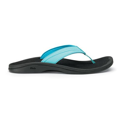 Womens OluKai Ohana Sandals Shoe - Bright Sky/Black 7