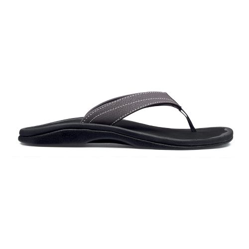 Womens OluKai Ohana Sandals Shoe - Basalt/Black 7