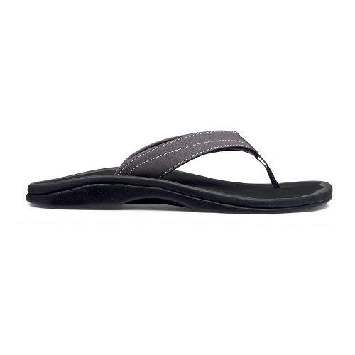 Womens OluKai Ohana Sandals Shoe - Basalt/Black 8