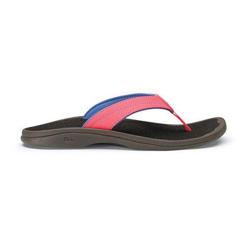 Womens OluKai Ohana Sandals Shoe - Coral/Java 10
