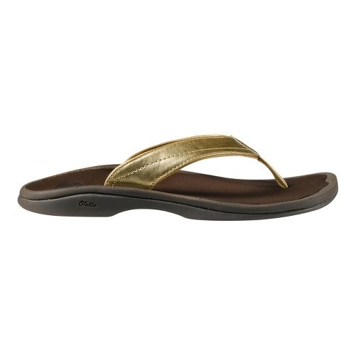 Womens OluKai Ohana Sandals Shoe - Gold/Brown 9