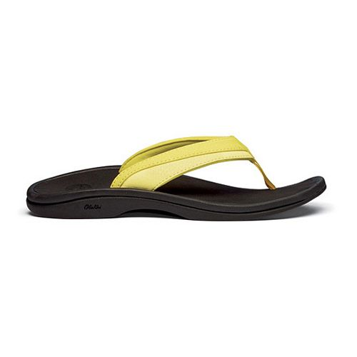 Womens OluKai Ohana Sandals Shoe - Lemon/Ice 6