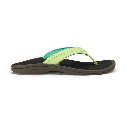 Womens OluKai Ohana Sandals Shoe - Lime/Java 5