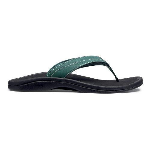 Womens OluKai Ohana Sandals Shoe - Malachite/Black 11