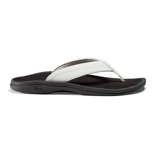 Womens OluKai Ohana Sandals Shoe - Off White/Dark Java 6