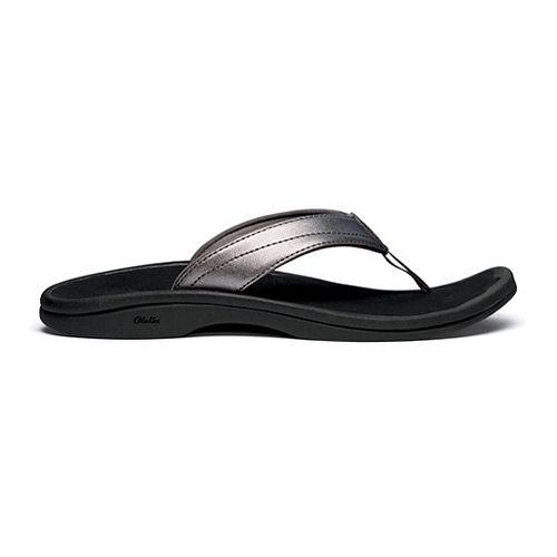 Womens OluKai Ohana Sandals Shoe - Pewter/Black 11