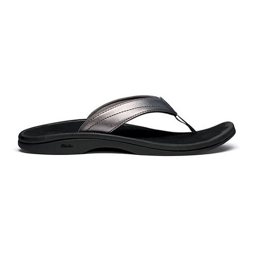 Womens OluKai Ohana Sandals Shoe - Pewter/Black 7