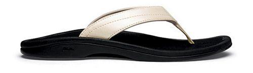 Womens OluKai Ohana Sandals Shoe - Platinum/Black 5