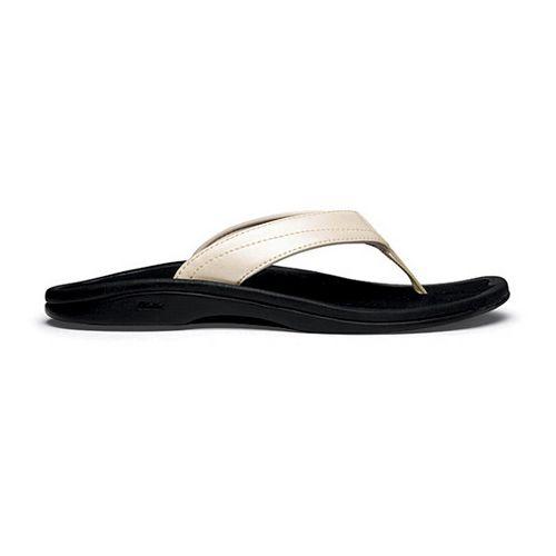 Womens OluKai Ohana Sandals Shoe - Platinum/Black 7