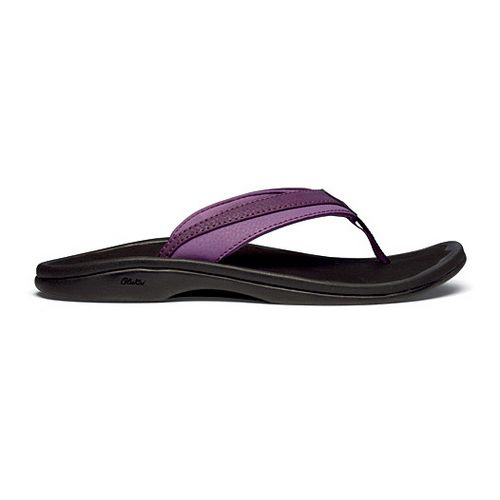Womens OluKai Ohana Sandals Shoe - Plum/Black 5