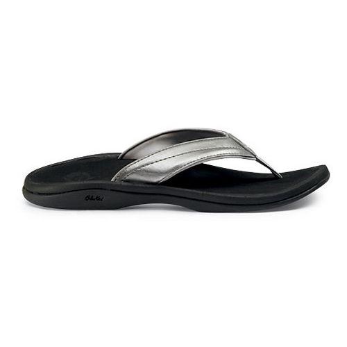 Womens OluKai Ohana Sandals Shoe - Silver/Black 9
