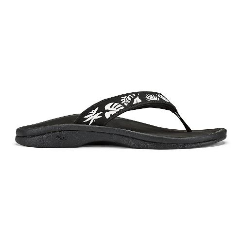 Womens OluKai Ohana Sandals Shoe - Bubbly/Black 11