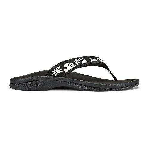 Womens OluKai Ohana Sandals Shoe - White/Dark Java 8