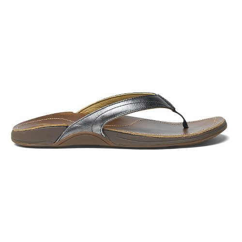 Womens OluKai Kumu Sandals Shoe - Pewter/Bean 10
