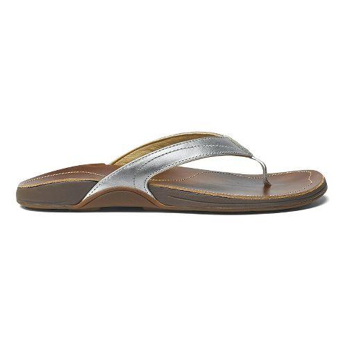 Womens OluKai Kumu Sandals Shoe - Silver/Bean 10
