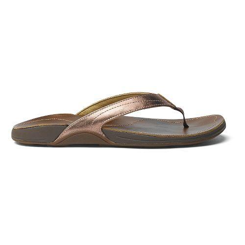 Womens OluKai Kumu Sandals Shoe - Rose Gold/Bean 5