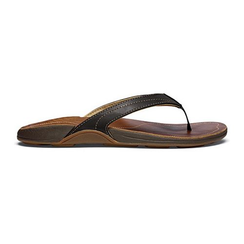 Womens OluKai Kumu Sandals Shoe - Black/Rattan 6