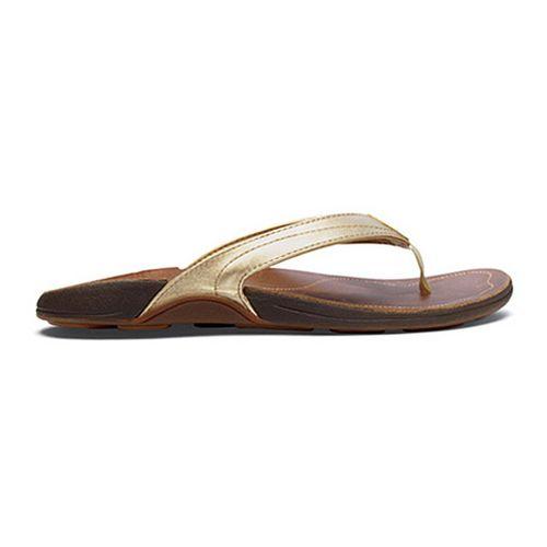 Womens OluKai Kumu Sandals Shoe - Mica/Rattan 10