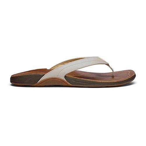 Womens OluKai Kumu Sandals Shoe - Off White/Rattan 6