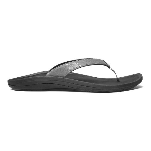 Womens OluKai Kulapa Kai Sandals Shoe - Charcoal/Black 6
