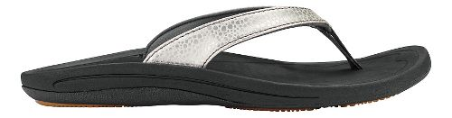 Womens OluKai Kulapa Kai Sandals Shoe - Silver/Black 10