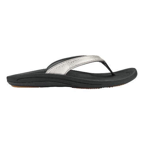 Womens OluKai Kulapa Kai Sandals Shoe - Silver/Black 9