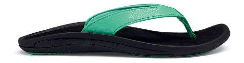 Womens OluKai Kulapa Kai Sandals Shoe - Pale Jade/Black 10