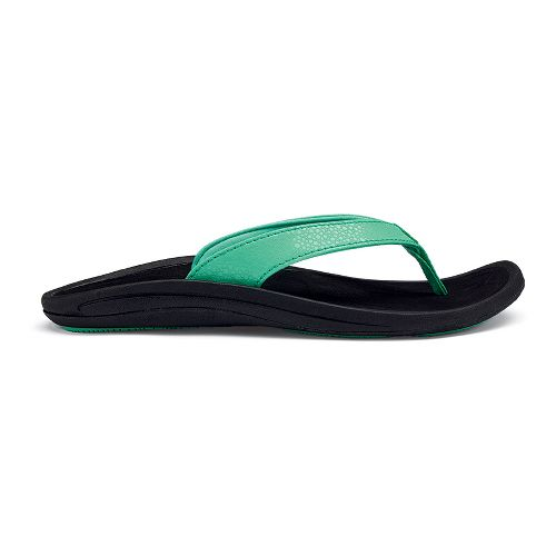 Womens OluKai Kulapa Kai Sandals Shoe - Pale Jade/Black 8